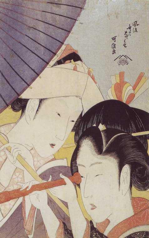 葛飾北斎(可侯)「風流無くてななくせ 遠眼鏡」