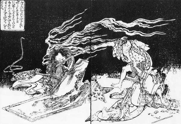 葛飾北斎「近世怪談霜夜星」