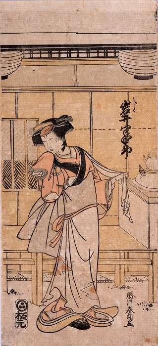 葛飾北斎(勝川春朗)「四代目岩井半四郎かしく」